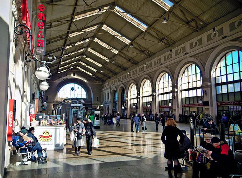 Балтийский вокзал свод вестибюля здания