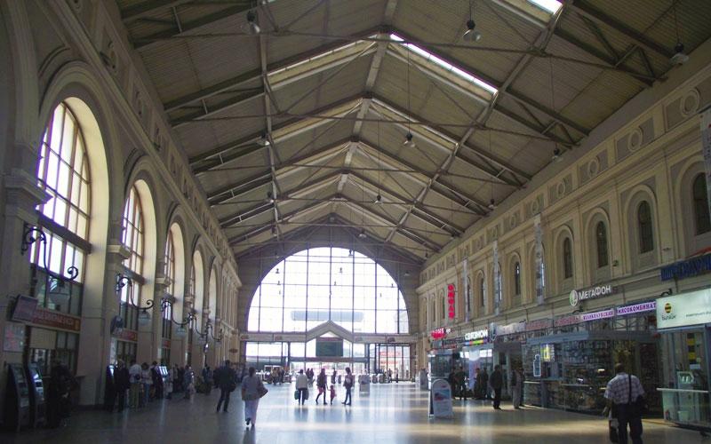 Здание Балтийского вокзала свод внутри