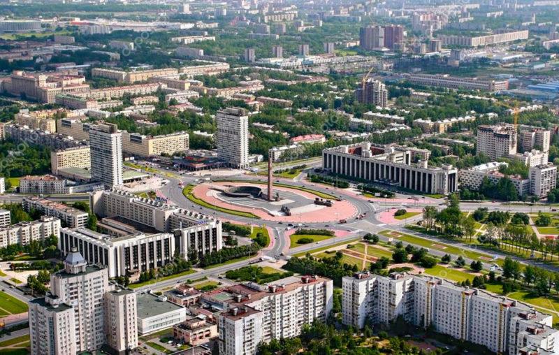 Площадь Победы Петербург вид сверху